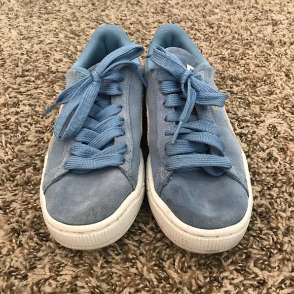Puma Shoes | Womens Blue Suede Classic